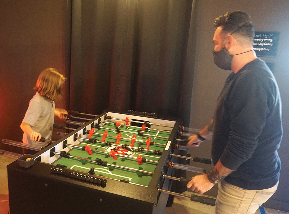 Foosball playing
